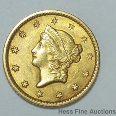 1849 United States American Liberty $1 One Dollar Gold Coin