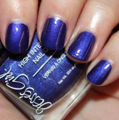 """""""Blue Moon"""" by Jesse's Girl:High Intensity Nail Color Swatches & Review - Vampy Varnish. You can get these at Rite Aid."""