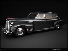 Zis 110  Soviet limousine 1946-56 (La Zavod Imeni Stalina (ZIS) 110)