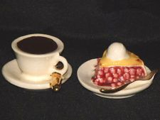 Arcadia Miniature Coffee and Pie Salt & Pepper Shakers #2