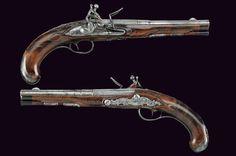 A pair of flintlock pistols, Italy, ca. 1700.
