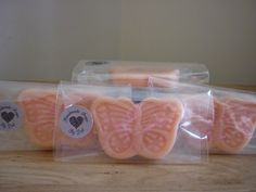 PASSION FRUIT - BUTTERFLY SHAPED SOAPS £1.75