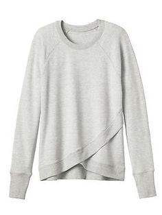 Criss Cross Sweatshirt - Beyond-soft French terry in the perfect studio sweatshirt style made not-so-basic with a crossover front hem.