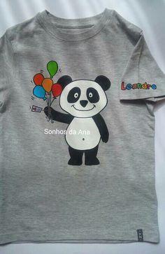 T-shirt pintada à mao/handmade Panda