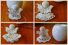 Crochet Angels, Crochet Hats, Tree Templates, Diy And Crafts, Crochet Earrings, Jewelry, Google, Parenting, Winter