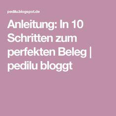 Anleitung: In 10 Schritten zum perfekten Beleg | pedilu bloggt