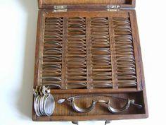 Antica cassetta oftalmica; prima metà 1800