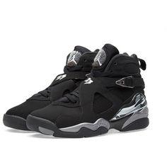 Nike Air Jordan VIII Retro BG 'Chrome' (14175 RSD) ❤ liked on Polyvore featuring men's fashion en men's shoes