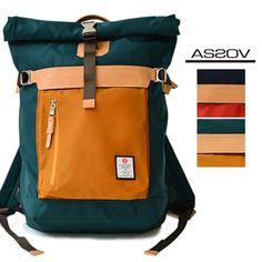 AS2OV (assob) HI DENSITY MEMORY TWILL NYLON BACK PACK nylon roll top backpack - $194