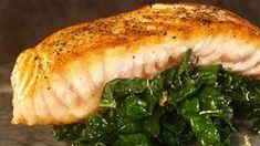 Pan Roasted Salmon with Lemony Kale Recipe | The Chew - ABC.com