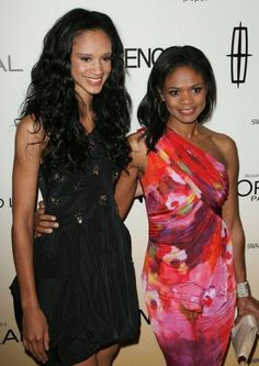 Actress Kimberly Elise and her older daughter Ajableu