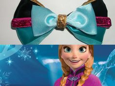 Anna Frozen Disney Inspired hair bow by ToInfinityBowtique on Etsy, $9.25