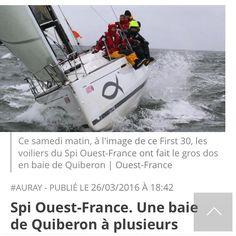#spiouestfrance #voilemacsf #macsf #first30 #spiouest #boat #regate #latrinitesurmer #sea #sky #sailing #sailboat #voilier #ouestfrance @voile_macsf team pro de sante macsf by lapieuvr