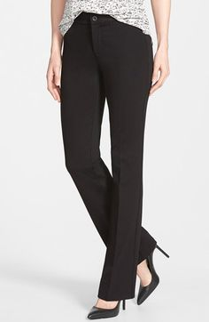 Slimming Ponte Knit Baby Bootcut Trouser in Charcoal