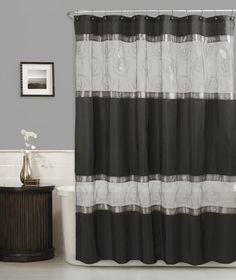 Maytex Marco Fabric Shower Curtain