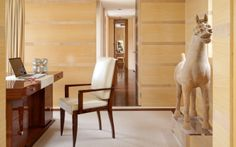 A house on the #FrenchRiviera / 4 [...] in a corner of the study we can see a chinese horse that dates back to the T'ang era. Interior design #TiEffeEsse More at http://goo.gl/w3DL7A