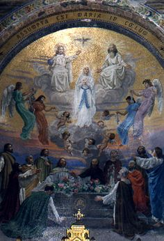 Mosaic of the Immaculate Conception, Rosary Basilica,Lourdes, France