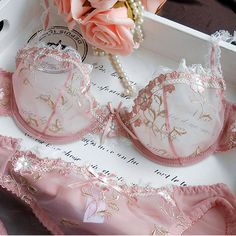 2016 Hot Fashion Womens Sexy Lingerie Underwire Bra Sets Transparent Ultra-thin Lace Brassiere Panties Set Full of from AllFemale. Saved to cooch covers. #thin #underwire #lace #bra #beachbras #beach #swimwear #swimsuits.