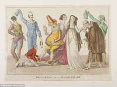 Risque Ridottos: The costumes worn by revellers, in particularly the female ones, tended to be revealing