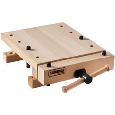 Sjobergs SJO-33309 Smart Workstation Pro Vise European Beech Workbench Top with Accessories