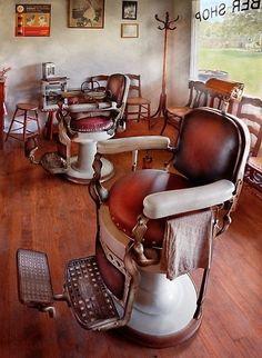 Old vintage barber chair
