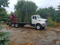 2004 Fassi Knuckle Boom Crane Mounted on a Sterling for Sale Cranes For Sale, Knuckle Boom Crane, Remote
