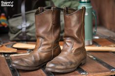 Red Wing Pecos, Workwear, Get Dressed, Fashion Boots, Cowboy Boots, Casual Shoes, Shoes Sneakers, Traditional, Denim