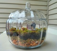 I finally made my own little terrarium! I added tiny spooky props because I live…