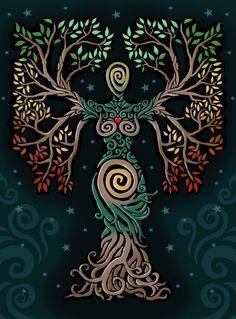 ideas tattoo tree of life albero della vita for 2019 Pagan Art, Goddess Art, Earth Goddess, The Goddess, Ouvrages D'art, Celtic Art, Nature Paintings, Book Of Shadows, Tree Art