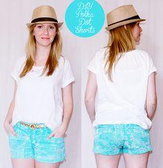 diy-polka-dot-shorts