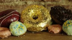 Donut Coated in Gold for Sale at Los Angeles Eatery