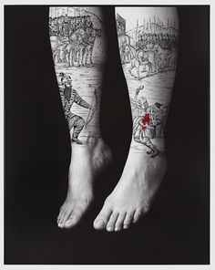 Shirin Neshat: Divine Rebellion, from The Book of Kings series, Acrylic on LE silver gelatin print. Shirin Neshat, Persian Tattoo, Tattoo Tights, Fabric Photography, Feminist Art, Picture Tattoos, Tattoo Pics, Tattoo Art, Tattoo Inspiration