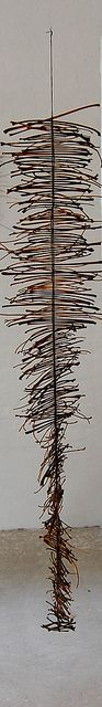 Contemporary basketry by Jane Nielsen, via Flickr abstract weaving art sculpture gallery installation