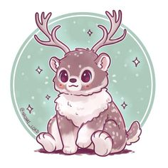 """Polubienia: 3,663, komentarze: 41 – Naomi Lord (@naomi_lord) na Instagramie: """"Thought I'd draw a little Christmassy/ Wintry themed fusion, a Polar Bear and Reindeer :3 ❄️❄️ (I…"""""""
