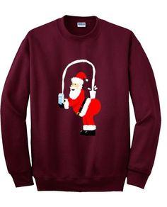 santa milk sweatshirt