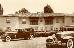 The Ambassador Hotel's Siesta Bungalow (Cottage) in the 1930s. According to legend, Rudolph Valentino; Tallulah Bankhead; Gloria Swanson; F.Scott Fitzgerald and his wife, Zelda, lived there briefly. The building was also the home of John Barrymore for a number of years in the mid 1920s.  (Bizarre Los Angeles)