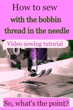 Couture sewing technique: how to sew with the bobbin thread in the needle / video sewing tutorial Looking to improve your sewing skills? Learn an unusual dart sewing technique with this sewing tutorial on. Sewing Hacks, Sewing Tutorials, Sewing Tips, Tutorial Sewing, Fat Quarter Projects, Leftover Fabric, Love Sewing, Sewing Projects For Beginners, Diy Projects