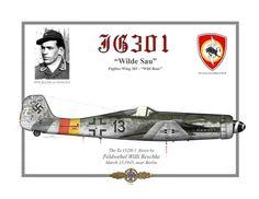 "FW 190 Ta 152H-1 ""+13"" pilotato dal Feldwebel Willi Reschke, JG 301 ""WIlde Sau"", Berlino 1945"