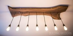How to make and install a live edge walnut light fixture with Edison bulbs