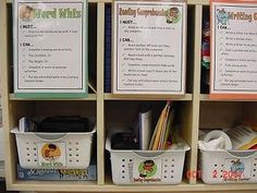 "Literacy Centers - I love centers. This ""must-do, can-do"" format is great! Complete the must-do activity then choose a can-do (or more!) if extra time. No one just sits waiting."