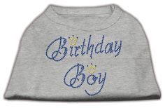 MiragePet Dog Pet Puppy Birthday Boy Rhinestone Design Shirt Dress Costumes Grey XLarge Size - 16 >>> Click image for more details. (This is an affiliate link) #DogsApparel