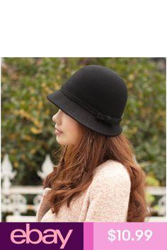 97884037e9d Womens Fashion Hat Wool Dress Church Cloche Hat Bucket Winter Floral Hat