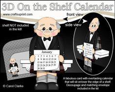 3D On the Shelf Everlasting Calendar Kit Scotsman Errol on Craftsuprint - View Now!