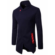 Men's Daily Simple Casual Leisure Winter Fall Coat,Solid V Neck Sleeveless Regular Cotton 2017 - $28.99