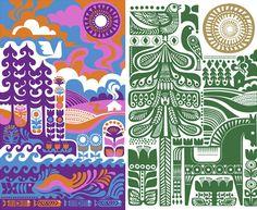 SANNA ANNUKKA Sanna Annukka is Finnish & English and makes folk art inspired modern designs.