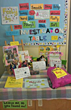 Investigation table Class Displays, School Displays, Classroom Displays, Preschool Science, Science Fair, Teaching Science, Forensic Science, Science Ideas, Life Science