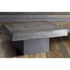 element coffee table in accent tables | CB2 (cement coffee table, cocktail table alternate, $400)