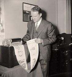 """Work would be a breeze, since we'd all communicate by """"radio newspaper"""". 