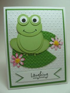 Today I have a few cards to share with you that my friend Cindee made. I think the frog is adorable! I love the texture of the...