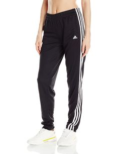 adidas Performance Women's Pant, Medium, Black/White: With track-inspired style, these women's pants are a training basic. They're cut with a tapered leg and feature a comfortable elastic waist and down the sides for an authentic finish. Adidas Nmd, Camille Callen, Black White, Large Black, Thing 1, Adidas Pants, Women's Pants, Jogger Pants, Adidas Shirt
